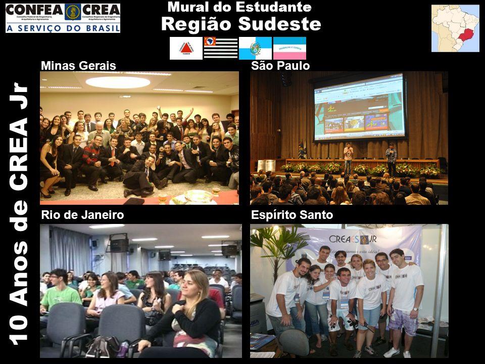 10 Anos de CREA Jr Região Sudeste Mural do Estudante Minas Gerais