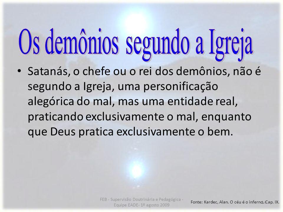 Os demônios segundo a Igreja