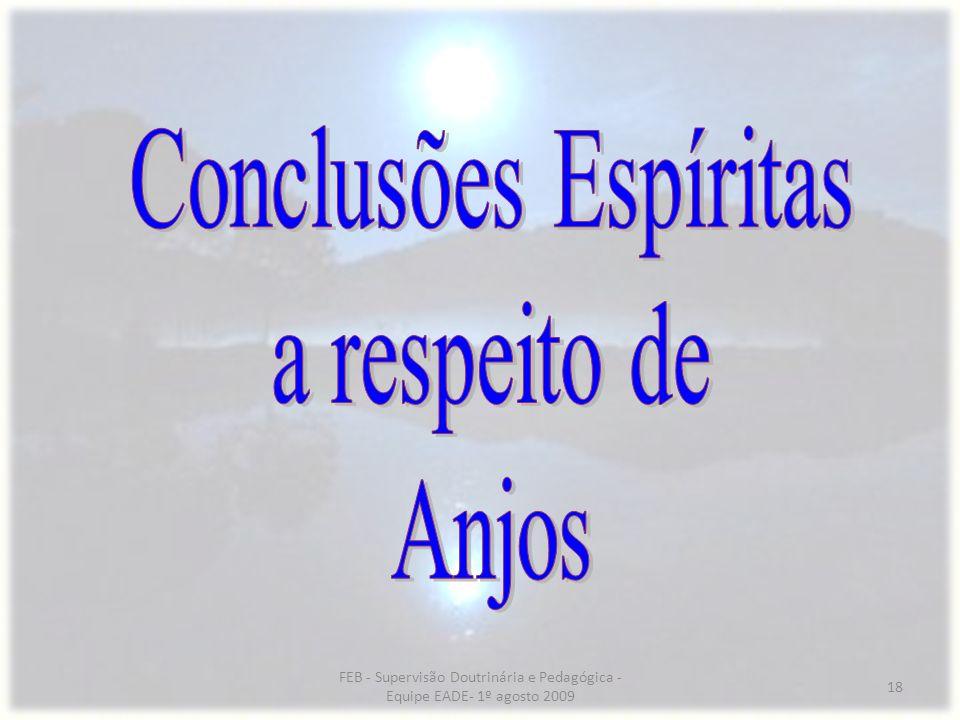 Conclusões Espíritas a respeito de Anjos