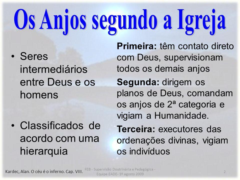 Os Anjos segundo a Igreja