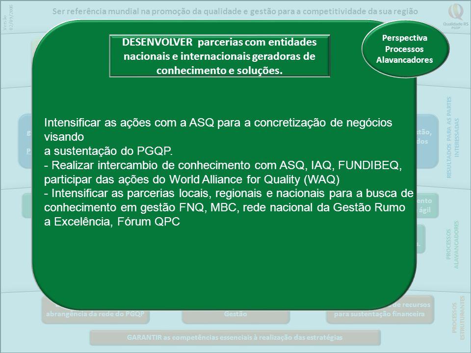 Ser referência mundial na promoção da qualidade e gestão para a competitividade da sua região
