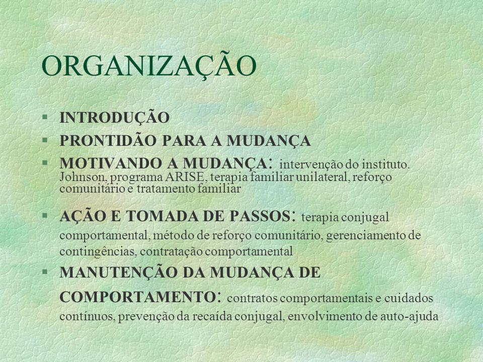ORGANIZAÇÃO INTRODUÇÃO PRONTIDÃO PARA A MUDANÇA
