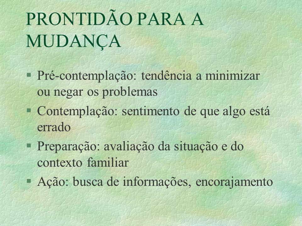 PRONTIDÃO PARA A MUDANÇA