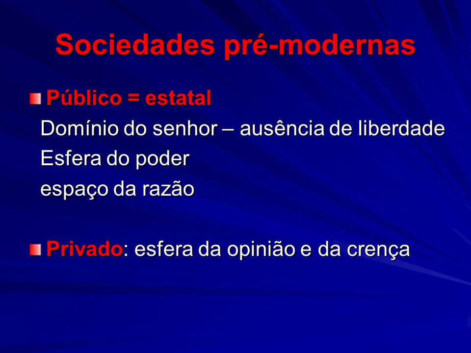 Sociedades pré-modernas
