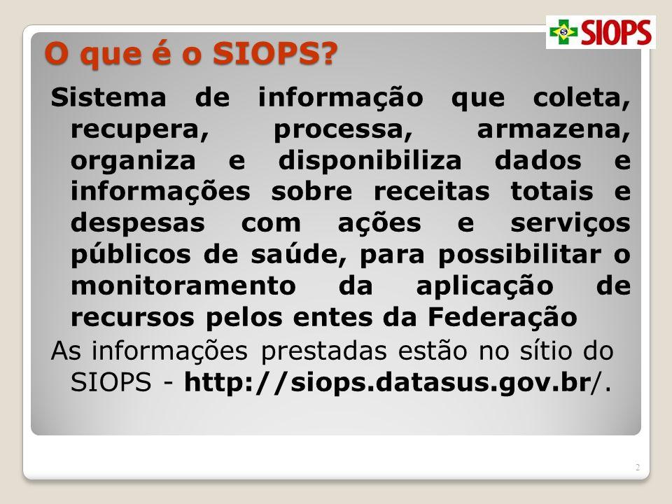 O que é o SIOPS