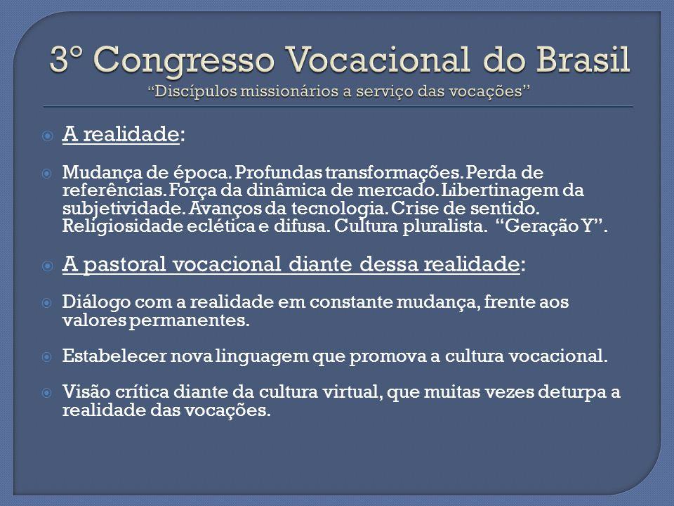 3º Congresso Vocacional do Brasil Discípulos missionários a serviço das vocações