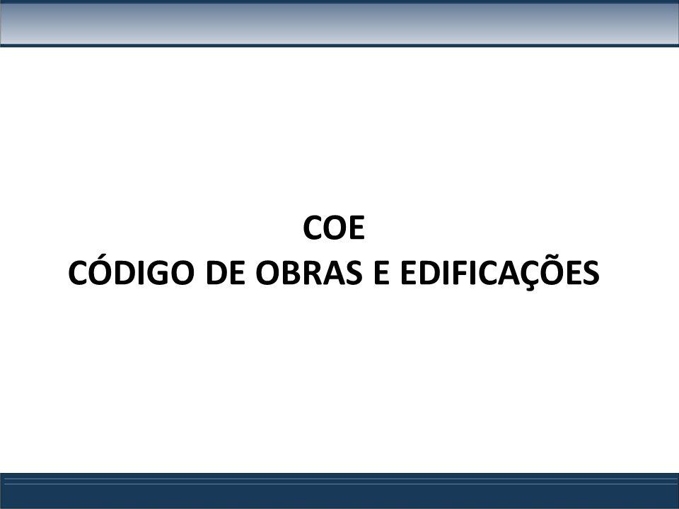 CÓDIGO DE OBRAS E EDIFICAÇÕES