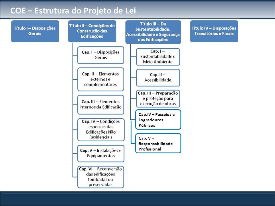 COE – Estrutura do Projeto de Lei