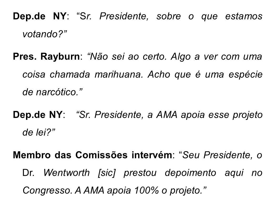 Dep.de NY: Sr. Presidente, sobre o que estamos votando