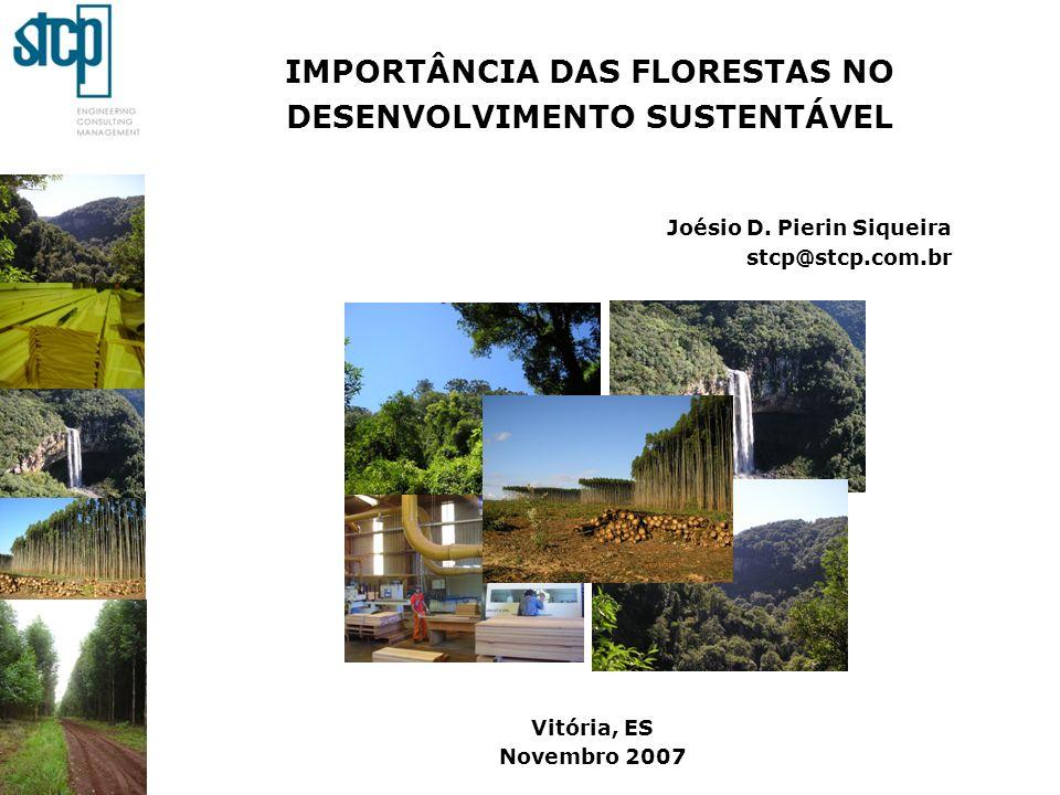 IMPORTÂNCIA DAS FLORESTAS NO DESENVOLVIMENTO SUSTENTÁVEL