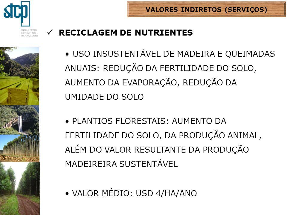 VALORES INDIRETOS (SERVIÇOS)