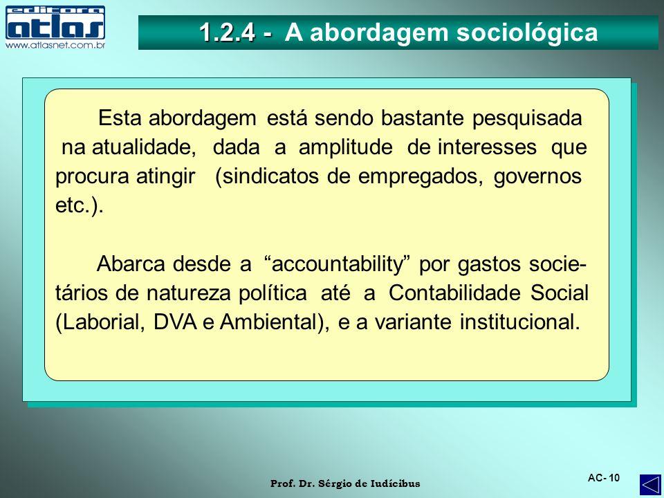 1.2.4 - A abordagem sociológica