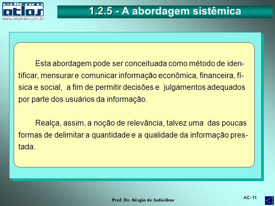 1.2.5 - A abordagem sistêmica