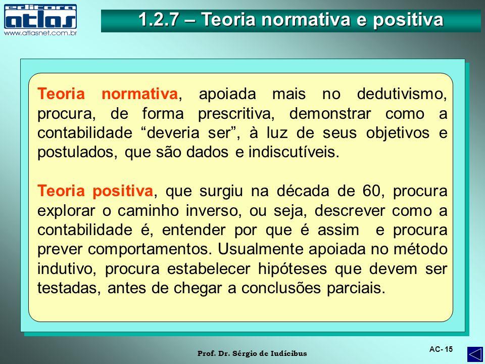 1.2.7 – Teoria normativa e positiva