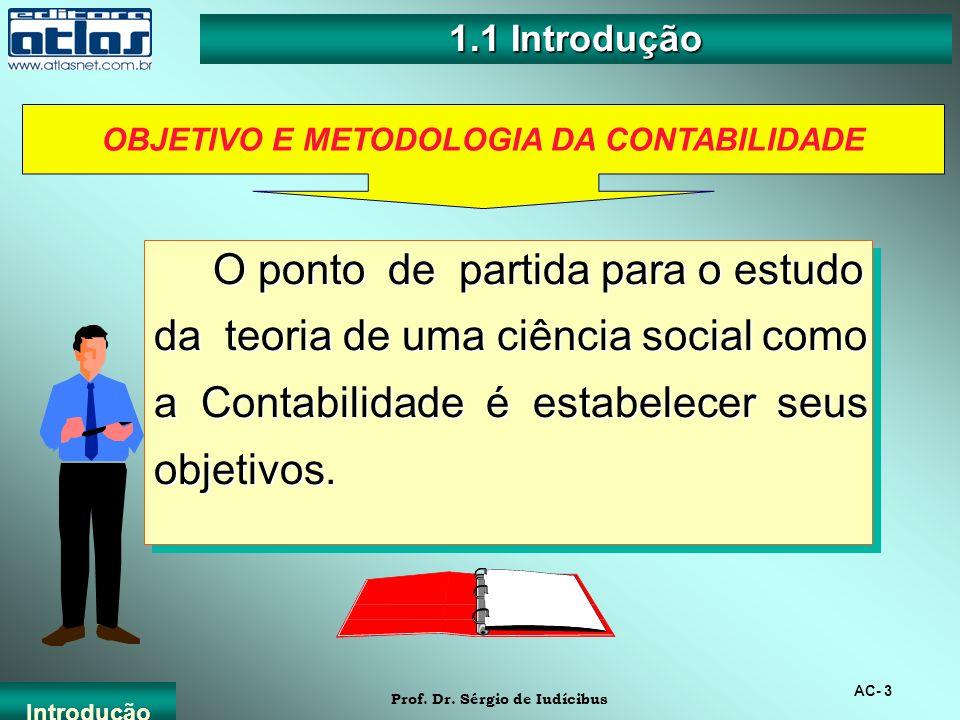 OBJETIVO E METODOLOGIA DA CONTABILIDADE