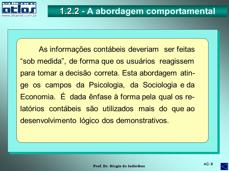 1.2.2 - A abordagem comportamental