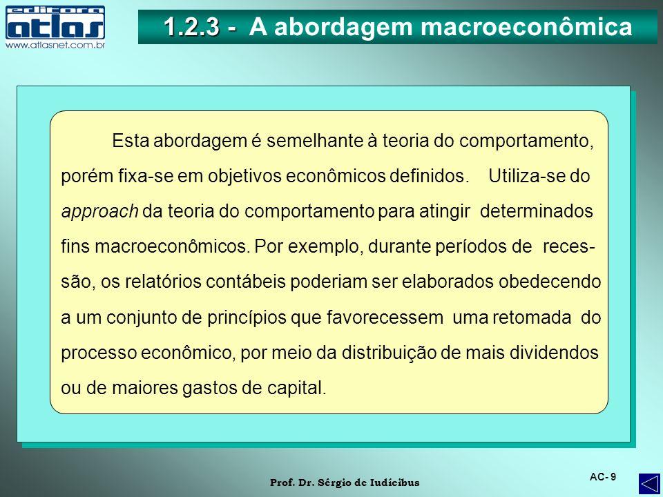 1.2.3 - A abordagem macroeconômica