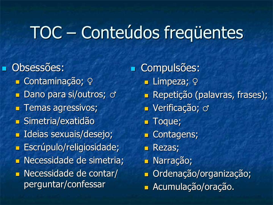 TOC – Conteúdos freqüentes