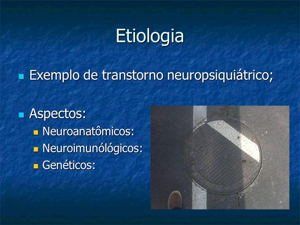 Etiologia Exemplo de transtorno neuropsiquiátrico; Aspectos: