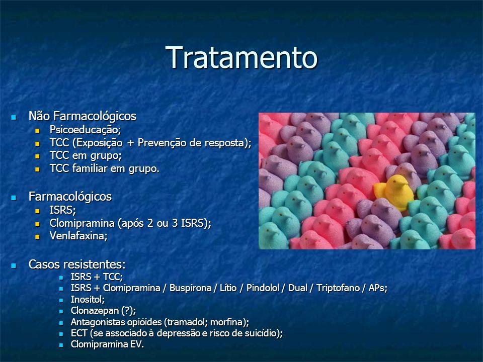 Tratamento Não Farmacológicos Farmacológicos Casos resistentes: