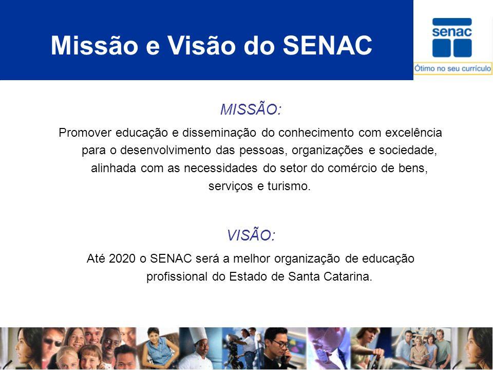 Missão e Visão do SENAC MISSÃO: VISÃO: