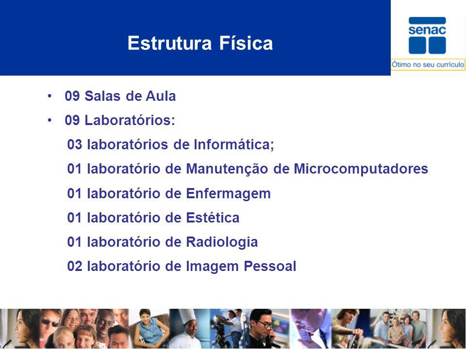 Estrutura Física 09 Salas de Aula 09 Laboratórios: