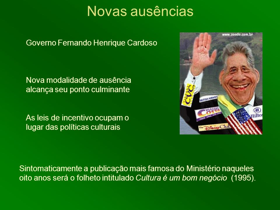 Novas ausências Governo Fernando Henrique Cardoso