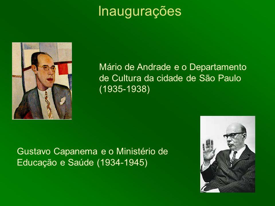 Inaugurações Mário de Andrade e o Departamento de Cultura da cidade de São Paulo (1935-1938)