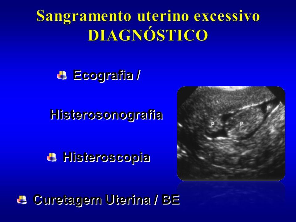 Sangramento uterino excessivo DIAGNÓSTICO