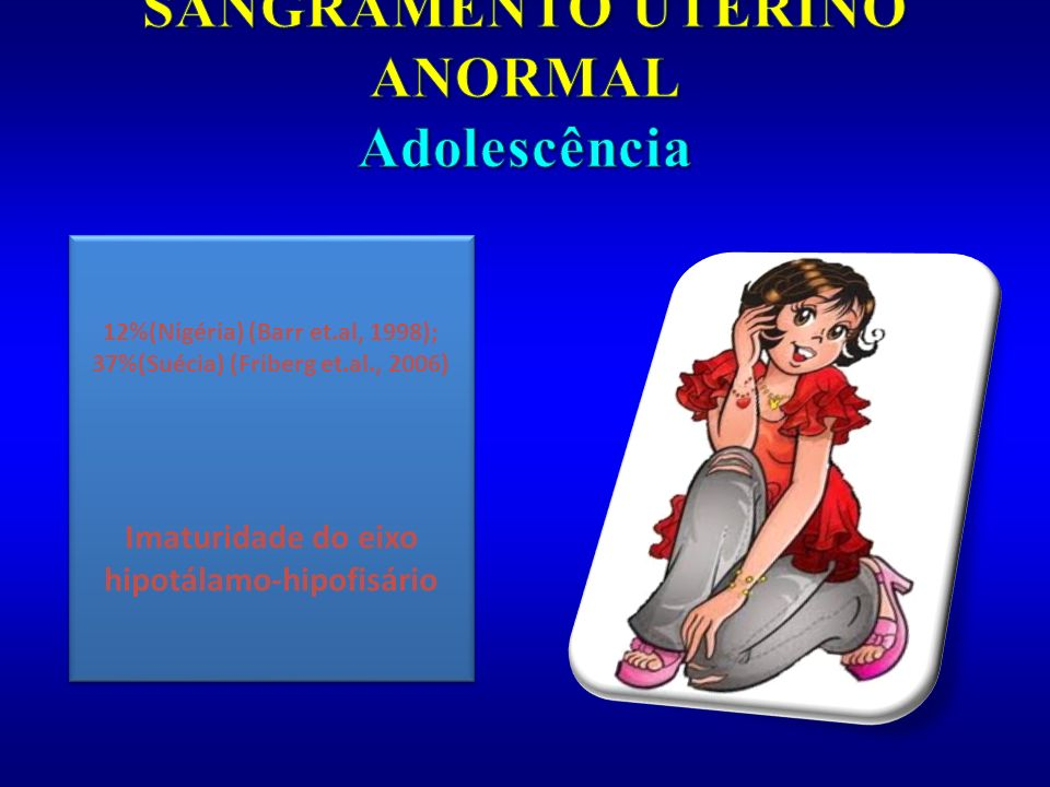 SANGRAMENTO UTERINO ANORMAL Adolescência