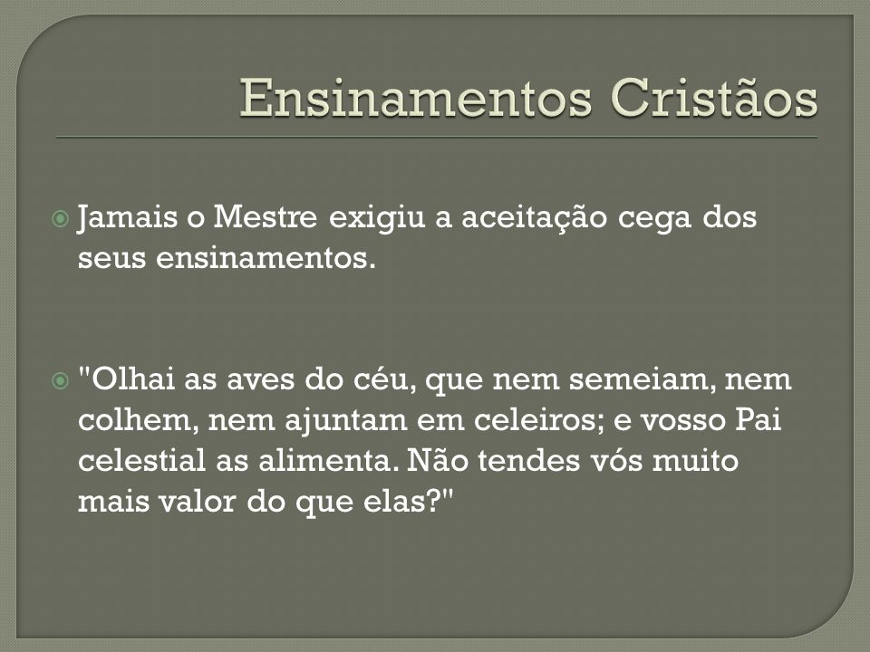 Ensinamentos Cristãos