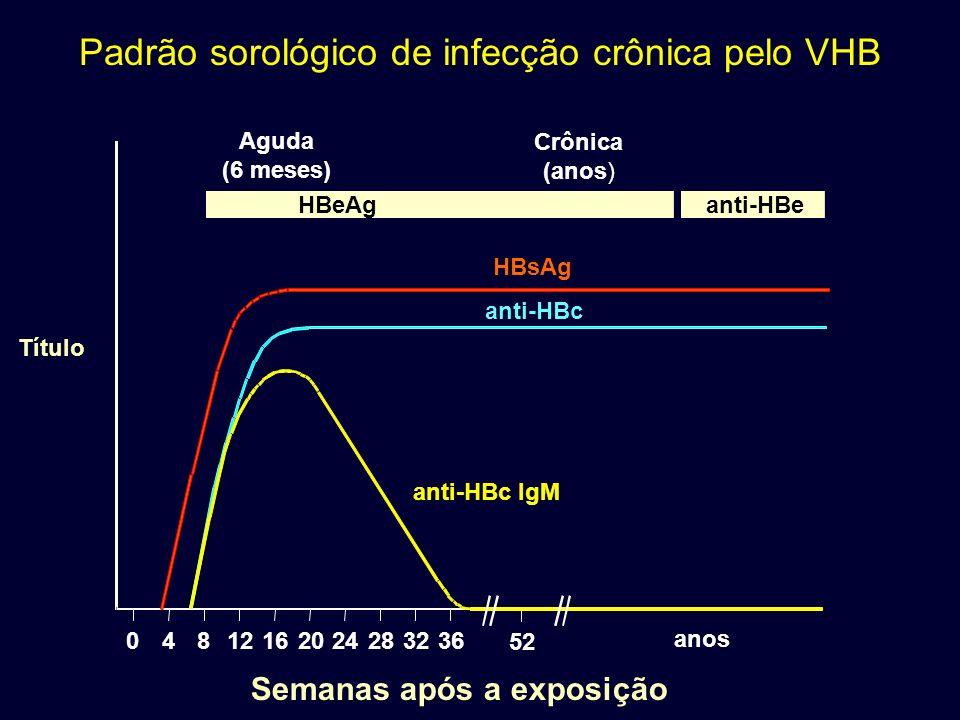 Padrão sorológico de infecção crônica pelo VHB
