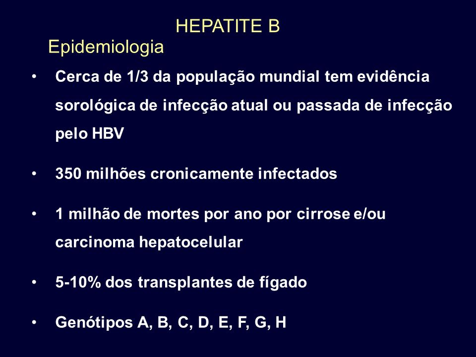 HEPATITE B Epidemiologia