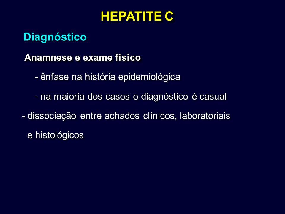HEPATITE C Diagnóstico Anamnese e exame físico