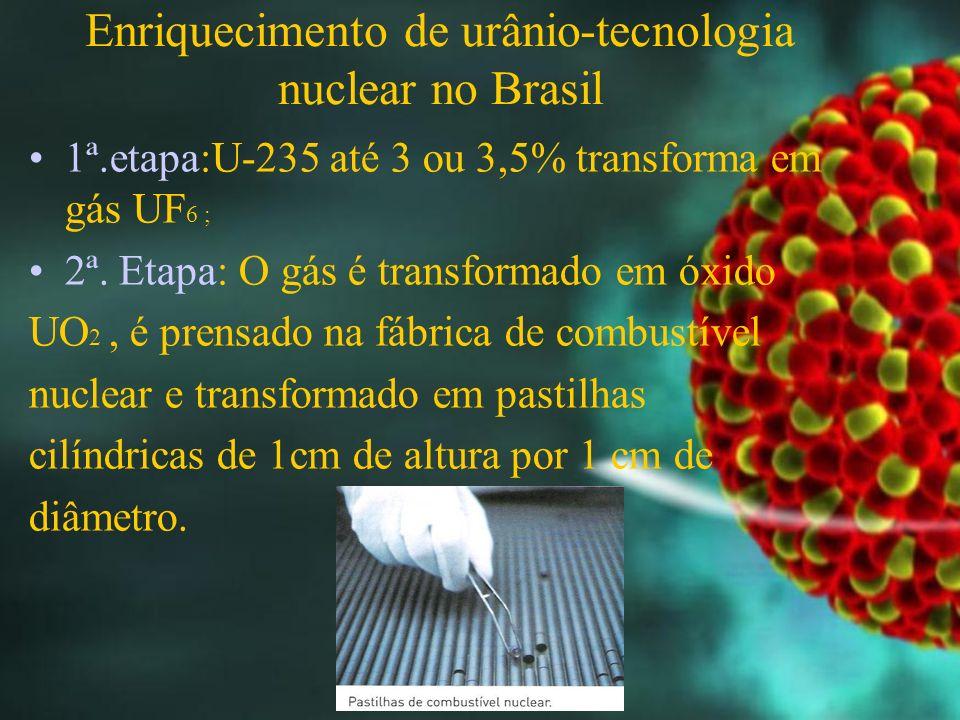 Enriquecimento de urânio-tecnologia nuclear no Brasil