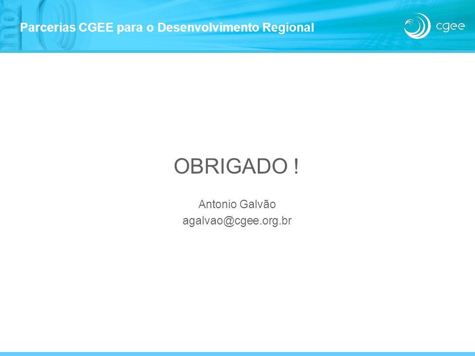 Parcerias CGEE para o Desenvolvimento Regional