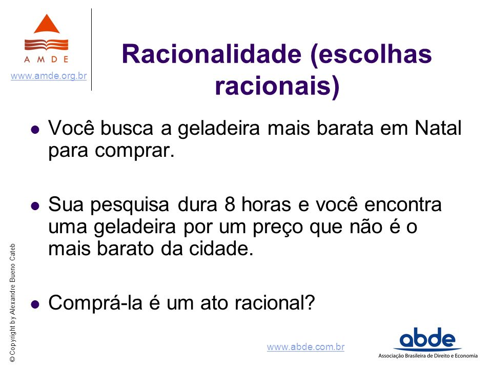 Racionalidade (escolhas racionais)