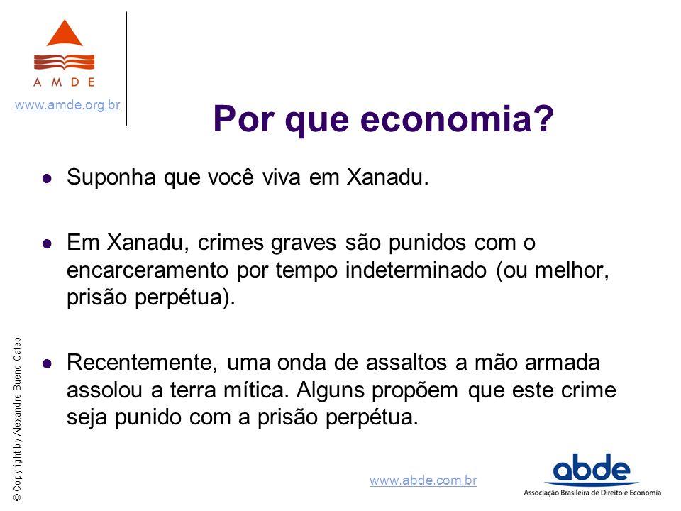 Por que economia Suponha que você viva em Xanadu.