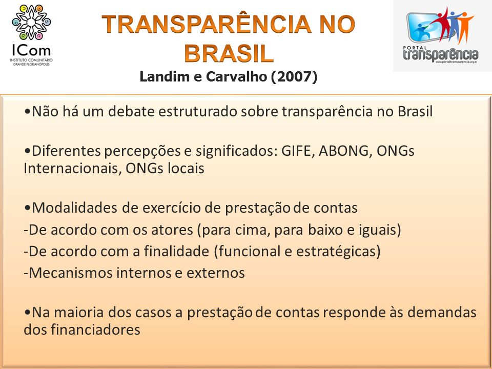 TRANSPARÊNCIA NO BRASIL
