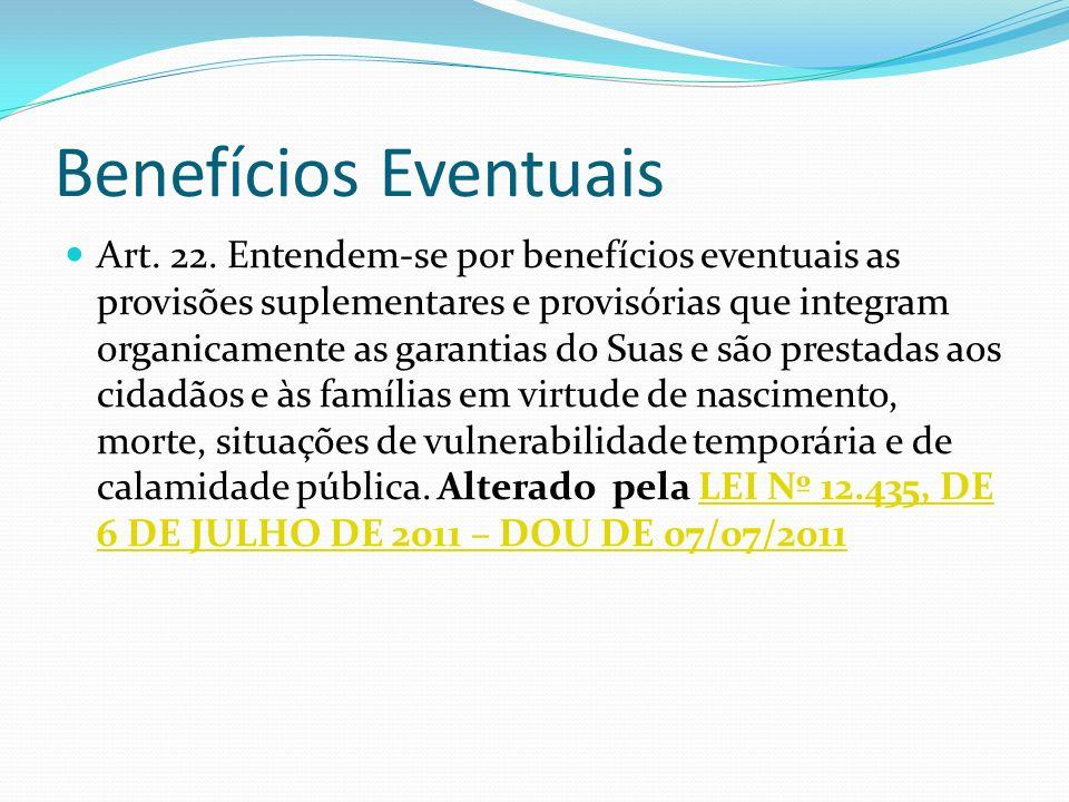 Benefícios Eventuais