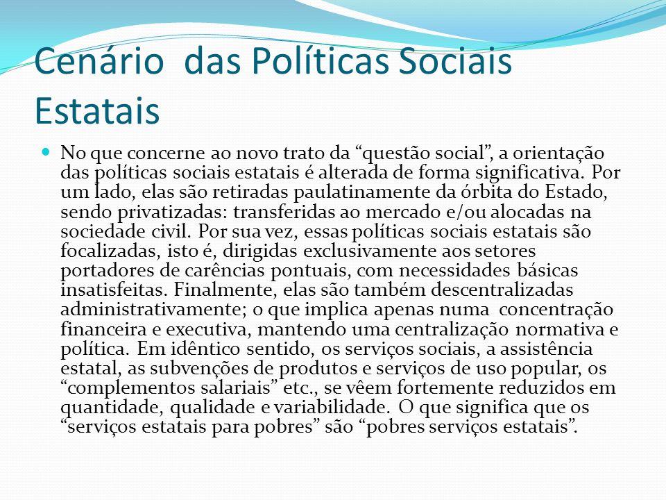 Cenário das Políticas Sociais Estatais