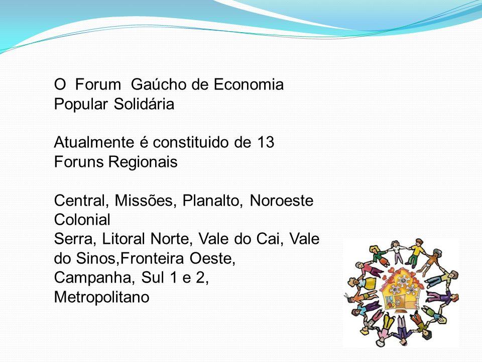 O Forum Gaúcho de Economia Popular Solidária