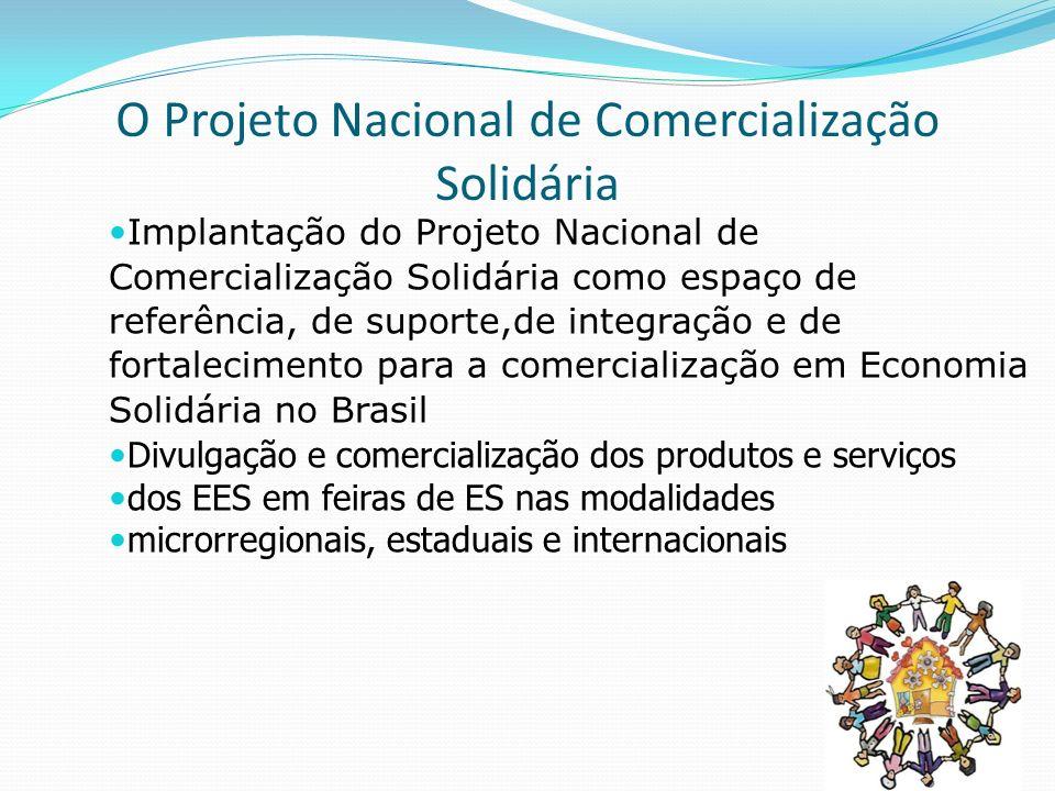 O Projeto Nacional de Comercialização Solidária