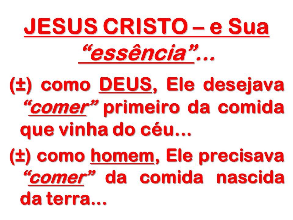 JESUS CRISTO – e Sua essência ...