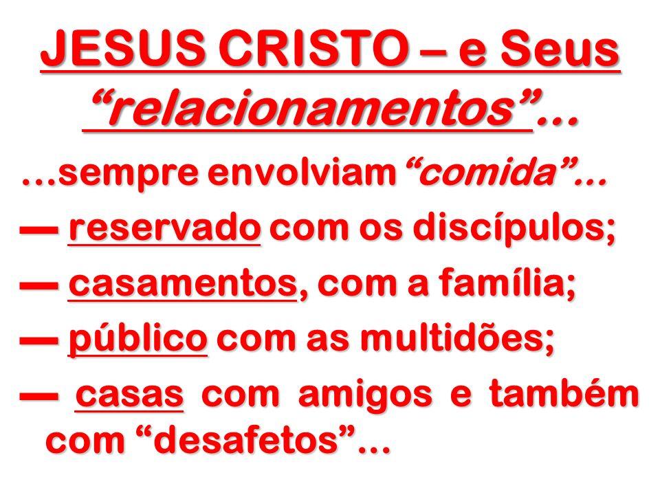JESUS CRISTO – e Seus relacionamentos ...