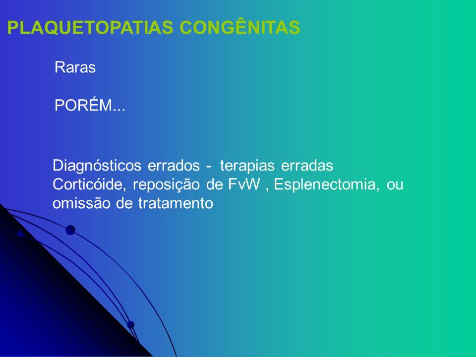 PLAQUETOPATIAS CONGÊNITAS
