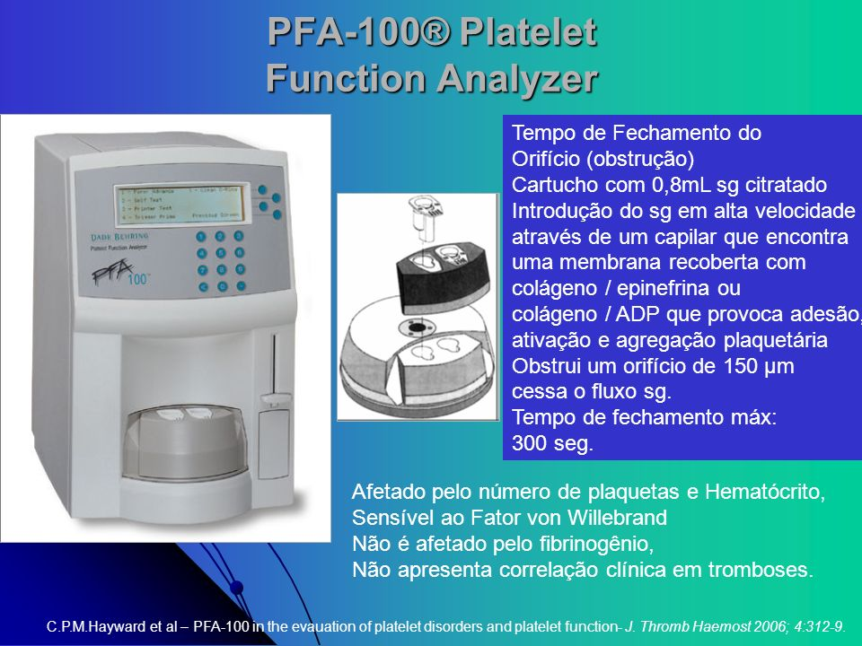 PFA-100® Platelet Function Analyzer