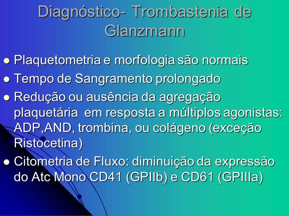 Diagnóstico- Trombastenia de Glanzmann
