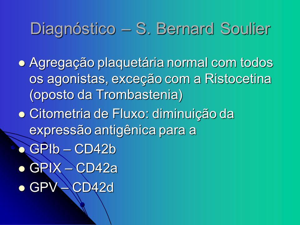 Diagnóstico – S. Bernard Soulier