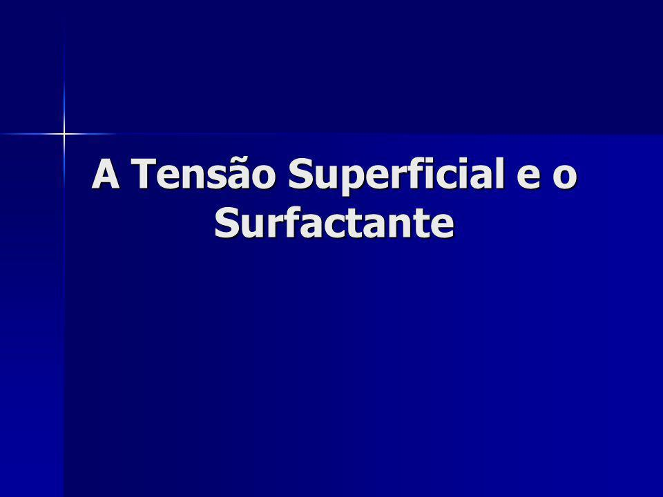 A Tensão Superficial e o Surfactante